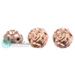 Cabochon Roseta doppio foro 6 mm colore Powdery Sugar Coral 10 pz