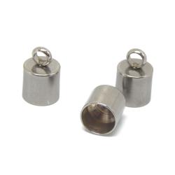4 Pz Terminale in acciaio inossidabile  per cordoni 6 mm