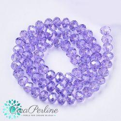 1 Filo Rondelle Cipollotti vetro sfaccettato briolette 4X3mm Crystal  Lilac