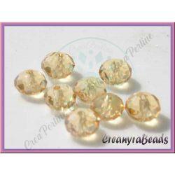 10 pz Rondella briolette mezzo cristallo Miele dorato 8 mm