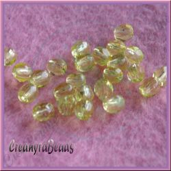 25 Pz Perle Cristallo fire polish giallo  6 mm