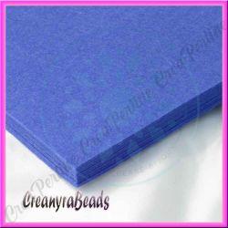Foglio in Feltro Blu Indigo 30x30 mm spessore 2 mm