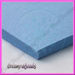 Foglio in Feltro Azzurro Jeans 30x30 mm spessore 2 mm