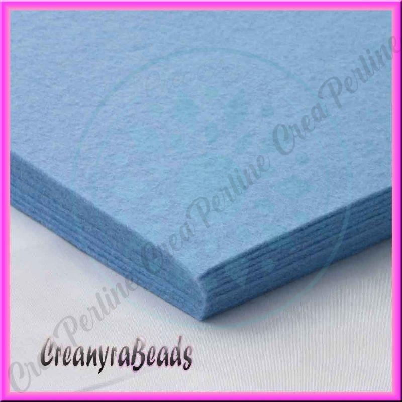 Foglio in feltro azzurro jeans 30x30 mm spessore 2 mm - Piastrelle spessore 2 mm ...