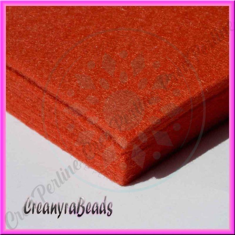 Foglio in feltro brick ruggine 30x30 mm spessore 2 mm - Piastrelle spessore 2 mm ...