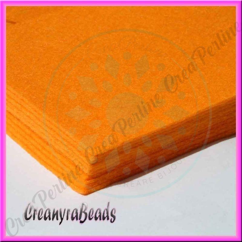 Foglio in feltro arancio chiaro 30x30 mm spessore 2 mm - Piastrelle spessore 2 mm ...