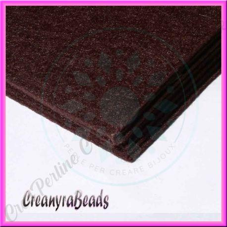 Foglio in feltro marrone 30x30 mm spessore 2 mm - Piastrelle spessore 2 mm ...