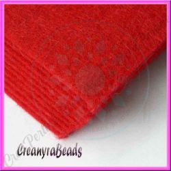 Foglio in Feltro Rosso 30x30 mm spessore 2 mm