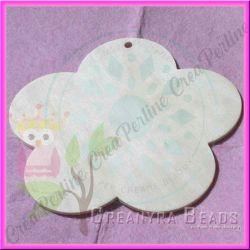 Offerta Placca Fiore targhetta in legno naturale  16,5 cm