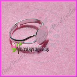 4 Pz Base per anello fascia regolabile con piastra da 10 mm mis.17 mm
