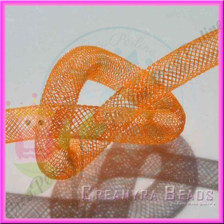 1 Metro Calza tubolare Arancio 10 mm in nylon