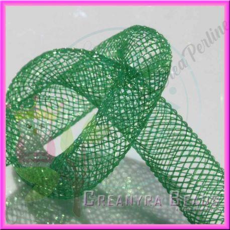 1 Metro Calza tubolare Verde 10 mm in nylon