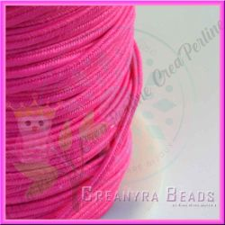 1 Metro Filato soutache piattina da 3 mm colore Rosa fluorescente