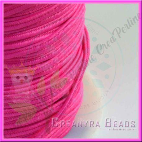 1 Metro Filato soutache piattina da 3 mm colore Rosa fluorescente