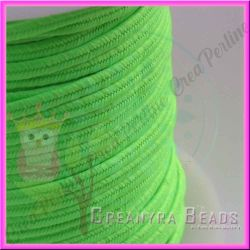1 Metro Filato soutache piattina da 3 mm colore Verde Fluorescente