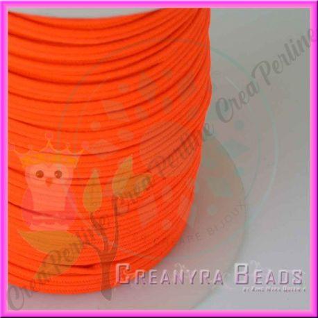 1 Metro Filato soutache piattina da 3 mm colore Arancio Fluorescente
