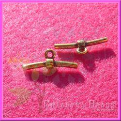 Spinetta con anellina  per cordino caucciù oro antico
