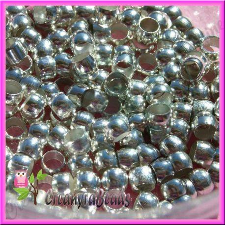 50 pezzi Schiaccini argentati 2x1,5 mm