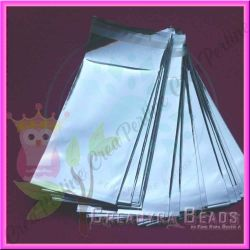 10 Pz Sacchetto regalo cellophane argento autoadesivo 23x12 cm