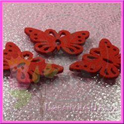 Farfalla rossa in Feltro spessore 3 mm ( 55x35 mm)
