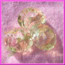 Perla Stile pandora mezzo cristallo briolette giallo jonquil 15x8 mm