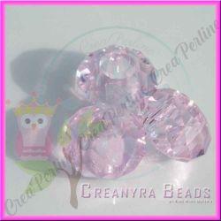 Perla Stile pandora mezzo cristallo briolette rosa 15x8 mm