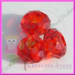 Perla Stile pandora mezzo cristallo briolette rosso 15x8 mm