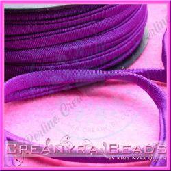 1 Mt Fettuccia elastica tubolare elastica in Lycra Viola Uva 5269