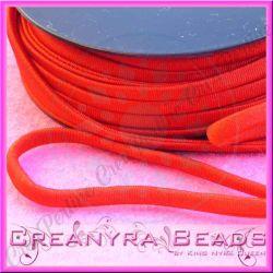 1 Mt Fettuccia elastica tubolare elastica in Lycra Rosso 4138