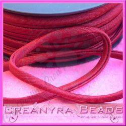 1 Mt Fettuccia elastica tubolare elastica in Lycra Bordeaux 4182