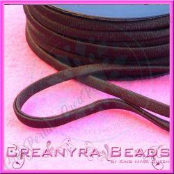 1 Mt Fettuccia elastica tubolare elastica in Lycra Cioccolato 8101
