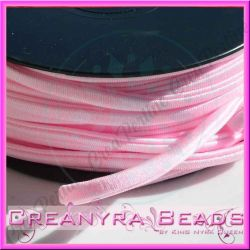 1 Mt Fettuccia elastica tubolare elastica in Lycra Rosa pallido 3099