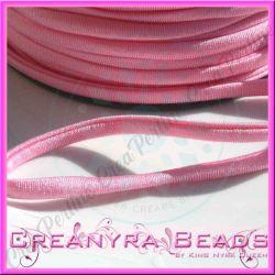 1 Mt Fettuccia elastica tubolare elastica in Lycra Rosa confetto 3180