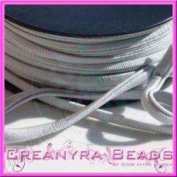 1 Mt Fettuccia elastica tubolare elastica in Lycra argento 210