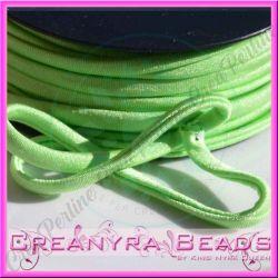 1 Mt Fettuccia elastica tubolare elastica in Lycra verde acido 7297