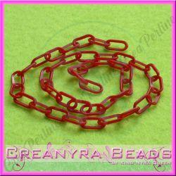 41 cm Catena Cip Rosso Ovali 12x7 mm in plastica