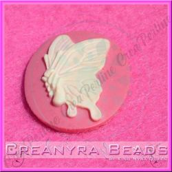 Cammeo Butterfly Collection Base Rosa 40x30 mm in resina