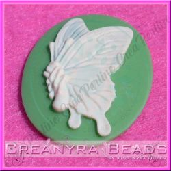 Cammeo Butterfly Collection Base Verde 40x30 mm in resina