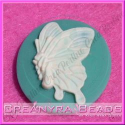 Cammeo Butterfly Collection Base Menta 40x30 mm in resina