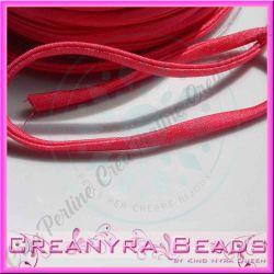 1 Mt Fettuccia elastica tubolare  in Lycra rosa fuchsia 3232