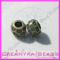 4 Pz Perla foro largo Perla design alveare tono  bronzo