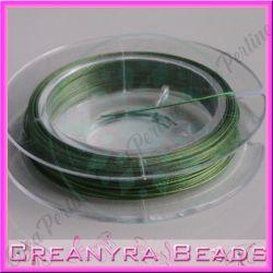10 metri Cavetto acciaio 0.38 rivestito nylon Verde oliva