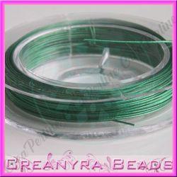 10 metri Cavetto acciaio 0.38 rivestito nylon Verde prato