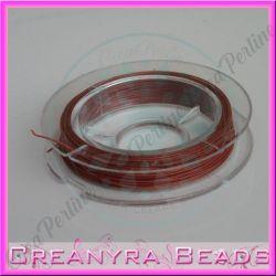 10 metri Cavetto acciaio 0.38 rivestito nylon Bronzo rosso