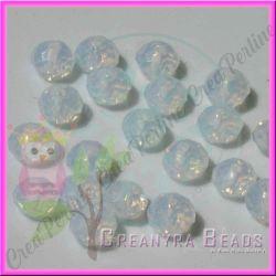 15 Perle Rondella Crystal opal Cristallo briolette  10 mm