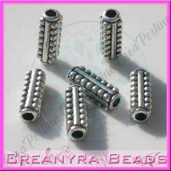 15 Pz Distanziatore tubetto bolli 15 mm in metallo tono antico