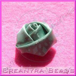 4 Pz Applicazione Bocciolo di rosa colore Salvia doppio raso