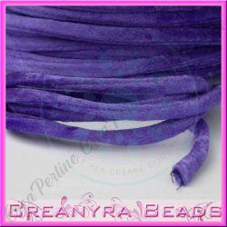 1 Mt Fettuccia in velluto elastica tubolare Viola 005