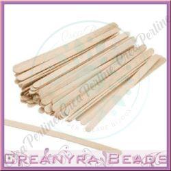 blister 50 stecchette in legno 110x10 mm