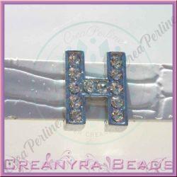 Maxi Lettera slide  Strass H 12 mm (foro 2 mm per cinturino da 10-11 mm)